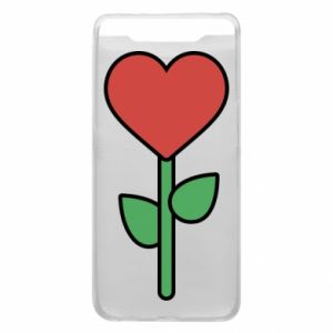 Phone case for Samsung A80 Flower - heart