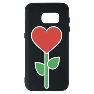 Etui na Samsung S7 Kwiat - serca