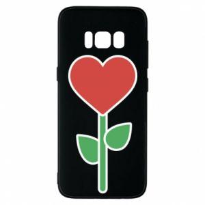 Etui na Samsung S8 Kwiat - serca