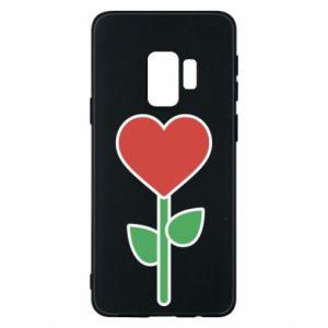 Etui na Samsung S9 Kwiat - serca
