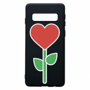 Etui na Samsung S10 Kwiat - serca