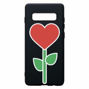Etui na Samsung S10+ Kwiat - serca