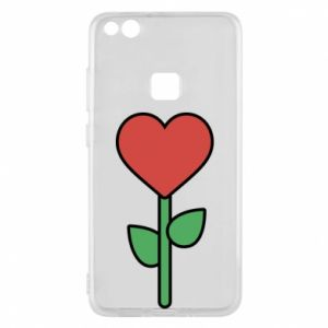 Phone case for Huawei P10 Lite Flower - heart