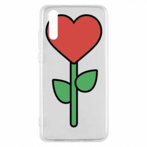 Phone case for Huawei P20 Flower - heart