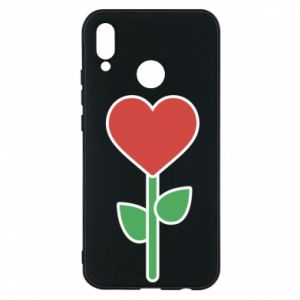 Phone case for Huawei P20 Lite Flower - heart