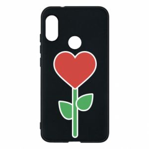 Phone case for Mi A2 Lite Flower - heart