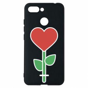 Etui na Xiaomi Redmi 6 Kwiat - serca