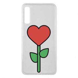 Phone case for Samsung A7 2018 Flower - heart