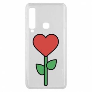 Phone case for Samsung A9 2018 Flower - heart