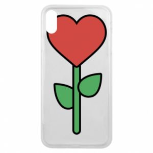 Phone case for iPhone Xs Max Flower - heart