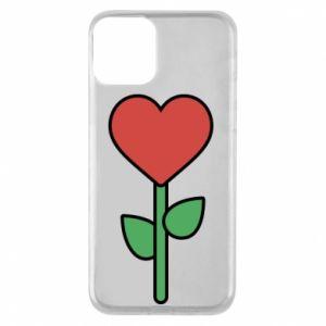 Etui na iPhone 11 Kwiat - serca