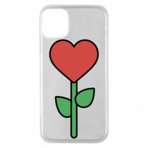Etui na iPhone 11 Pro Kwiat - serca