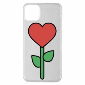 Etui na iPhone 11 Pro Max Kwiat - serca