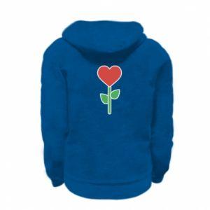 Bluza na zamek dziecięca Kwiat - serca