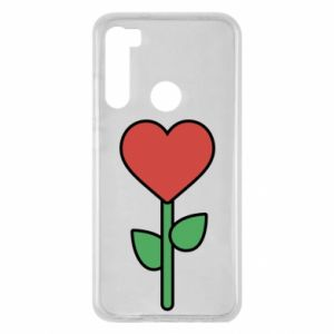 Etui na Xiaomi Redmi Note 8 Kwiat - serca