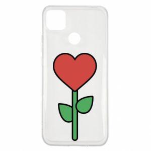 Etui na Xiaomi Redmi 9c Kwiat - serca