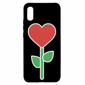 Etui na Xiaomi Redmi 9a Kwiat - serca