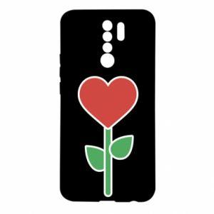 Etui na Xiaomi Redmi 9 Kwiat - serca