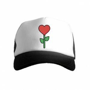 Czapka trucker dziecięca Kwiat - serca