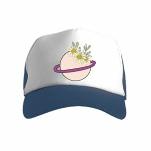 Kid's Trucker Hat Flowers on the planet