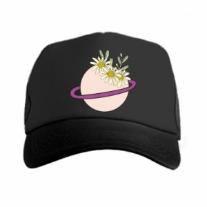 Trucker hat Flowers on the planet