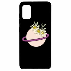 Samsung A41 Case Flowers on the planet