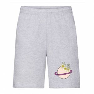 Men's shorts Flowers on the planet