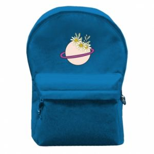 Backpack with front pocket Flowers on the planet
