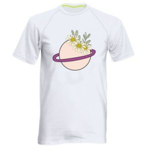 Men's sports t-shirt Flowers on the planet