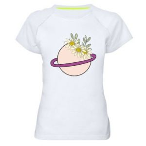 Women's sports t-shirt Flowers on the planet