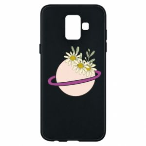 Samsung A6 2018 Case Flowers on the planet