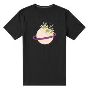 Męska premium koszulka Kwiaty na naszej planecie