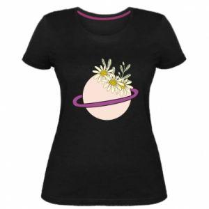Damska premium koszulka Kwiaty na naszej planecie