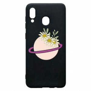 Samsung A20 Case Flowers on the planet