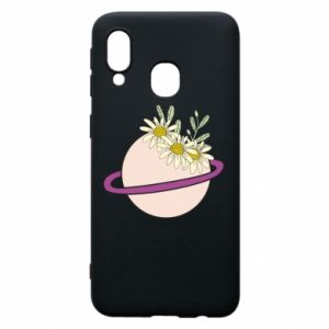 Samsung A40 Case Flowers on the planet
