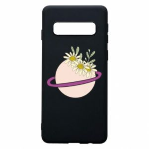 Samsung S10 Case Flowers on the planet