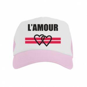 Czapka trucker dziecięca L'amour