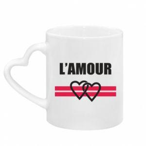 Kubek z uchwytem w kształcie serca L'amour