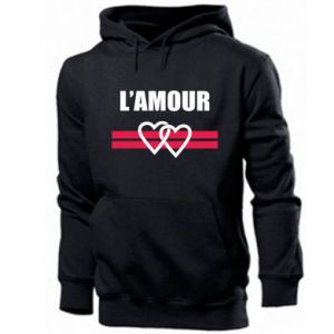 Męska bluza z kapturem L'amour