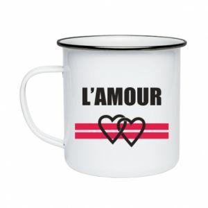 Kubek emaliowane L'amour