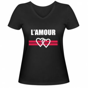 Damska koszulka V-neck L'amour