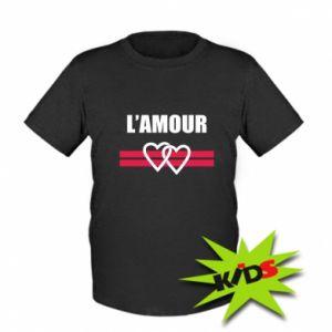 Koszulka dziecięca L'amour