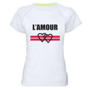 Damska koszulka sportowa L'amour