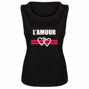 Damska koszulka bez rękawów L'amour