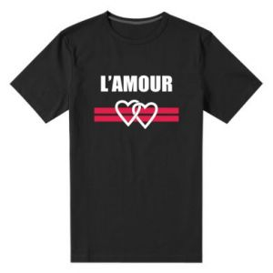 Men's premium t-shirt L'amour
