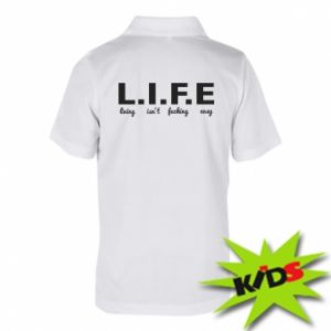 Dziecięca koszulka polo L.I.F.E