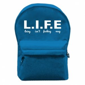 Backpack with front pocket L.I.F.E