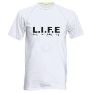 Męska koszulka sportowa L.I.F.E