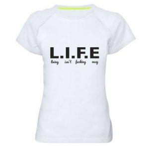 Damska koszulka sportowa L.I.F.E