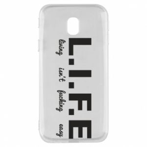 Phone case for Samsung J3 2017 L.I.F.E